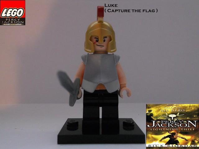 LEGO Luke ( Capture the flag ) by BC   Flickr - Photo Sharing!  Lego Percy Jackson Luke