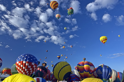 Hot Air Balloons at Albuquerque International Balloon Fiesta