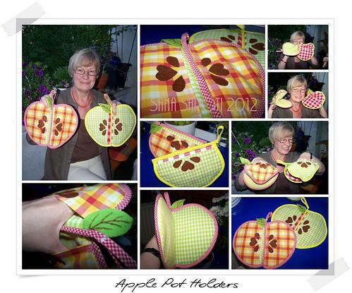 Apple pot holders