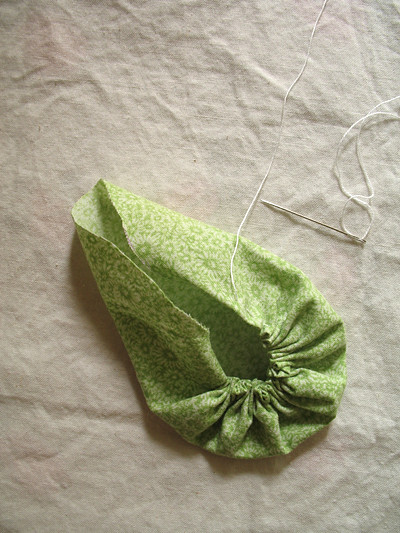 Green Fabric Disk in Progress_2
