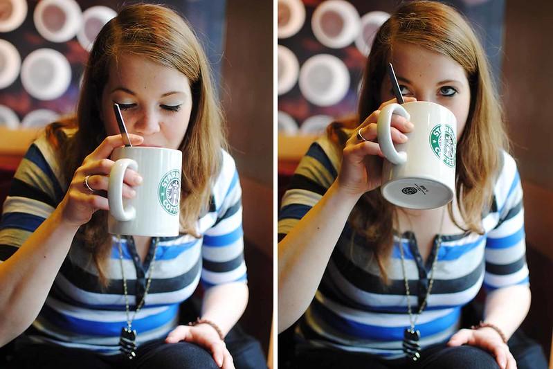 jule trinkt kaffe