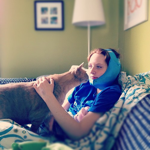 Max is very concerned about Olivia #wisdomteeth #firsts #teens #unschooling #cats