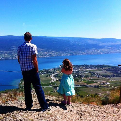 From yesterday: Emily and Daddy taking in the view.