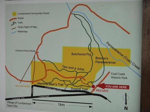 坎柏藍社區森林區域圖