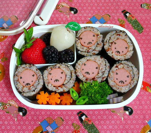 Piggie Norimaki Bento by sherimiya ♥