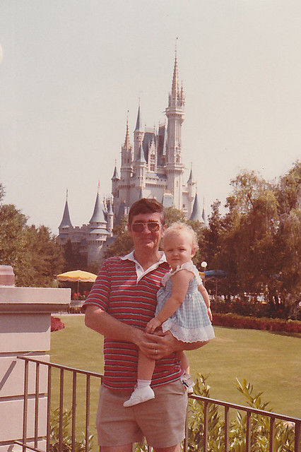 Me and my dad at the Magic Kingdom a couple decades ago.