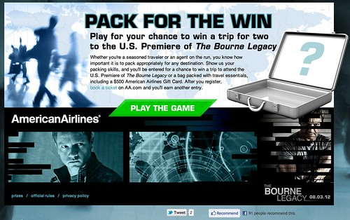 American Airlines Bourne Legacy Promotion