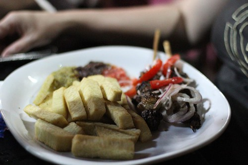 Yam Fries with Guineafowl