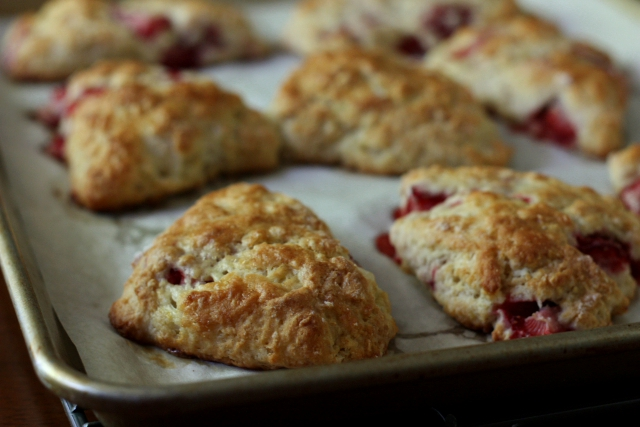 Strawberry Yogurt Scones