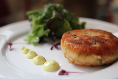 Thai Fishcake with Sweet Chili Mayo and Green Salad