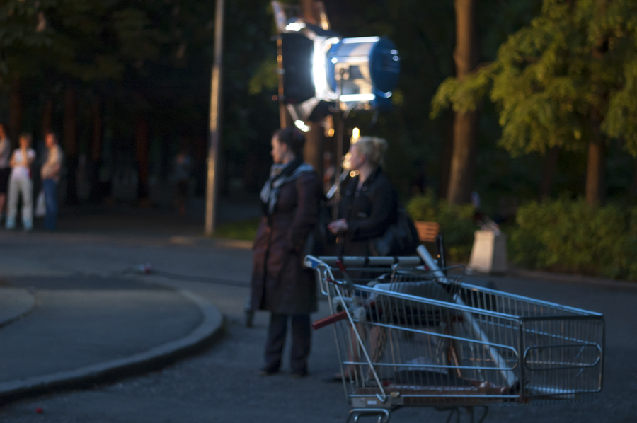evening Moscow shooting film