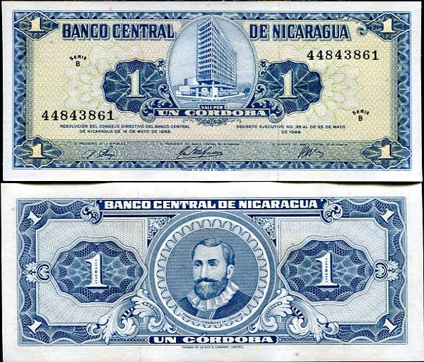 1 Córdoba Nikaragua 1968, Pick 115