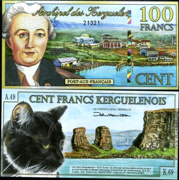 100 Frankov ostrovy Kergueleny 2.1.2012, polymer