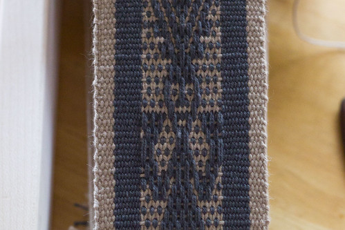 Inkle woven Mexican motif close-up