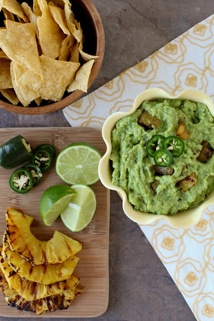 Grilled Pineapple Guacamole - Everyday Annie