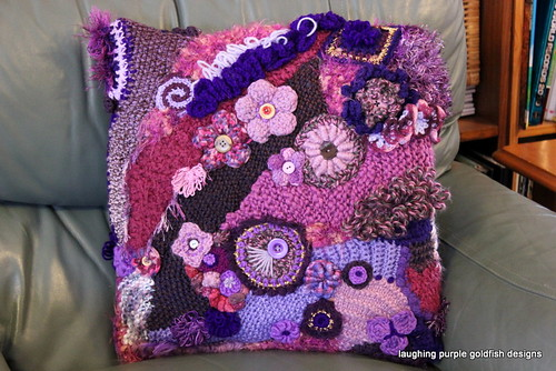 Purple Freeform Cushion