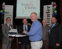 Brian Thom, Dr Bruce Eastick AM, Darren Peacock, John Clift, Brian Sambell