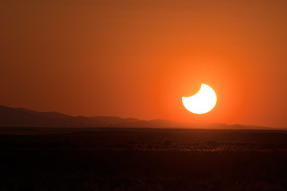 Partial Eclipse Sunset