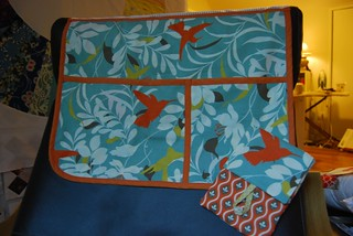 Bedside Caddy - Arcadia fabric