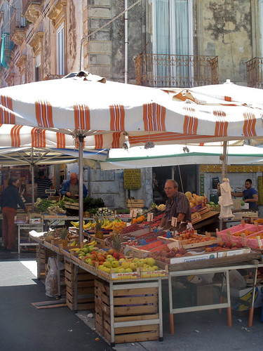 Market in Siracusa, Sicily, Italy