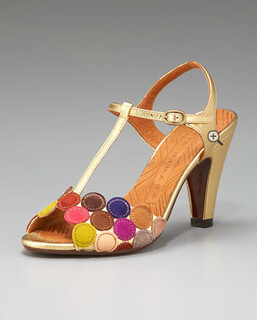 Chie Mihara Circle T-Strap Sandal NM Retail $425 on sale for $284