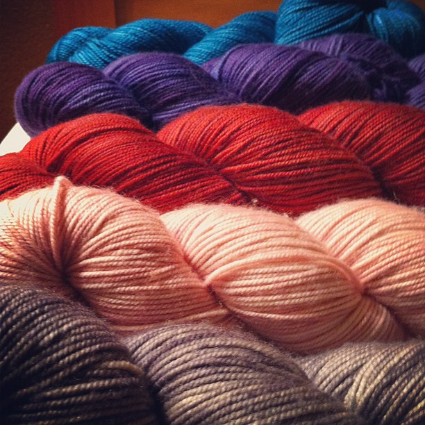 The schwag, or #yarnporn for @soozyknits