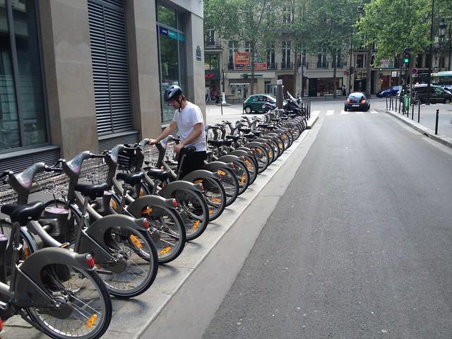 Velib bikes - Paris