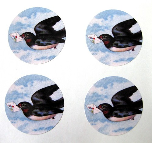 Letterbird envelope seals