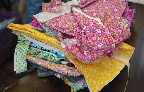 fabric scraps at amalgamated clothing and dry goods