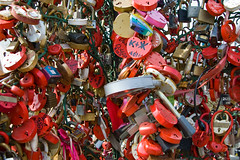 Cadenas d'amour sur le Pont Luzhkov ou Bridge of Love