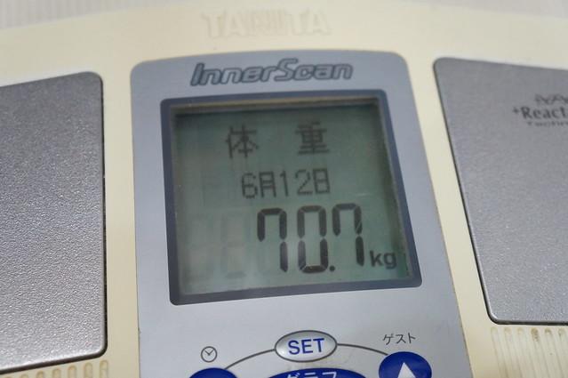 体重70.7kg
