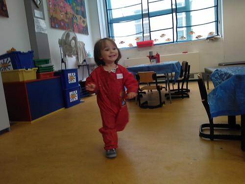 Mersina at craft times at the library