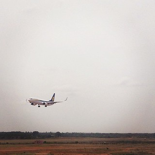 Queuing to take-off #plane #airport #bangalore #india #jetairways