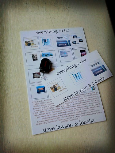 Steve Lawson Back Catalogue USB Stick photo with Postcard
