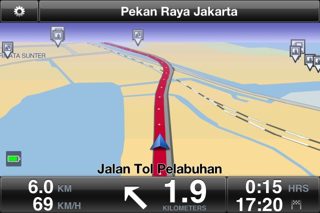 Tampilan navigasi
