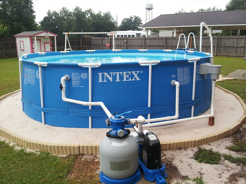 Intex Easy Set Pool Landscaping