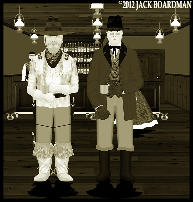 Boomer Jack and Professor Hare at the Saloon ©2012 Jack Boardman
