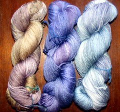 Silk blend sock yarn