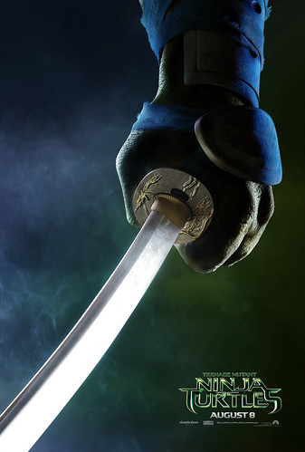 "PARAMOUNT :: ""TEENAGE MUTANT NINJA TURTLES"" ; 'LEONARDO' ..teaser poster  (( 2014 ))  [[ Courtesy of PARAMOUNT ]]"