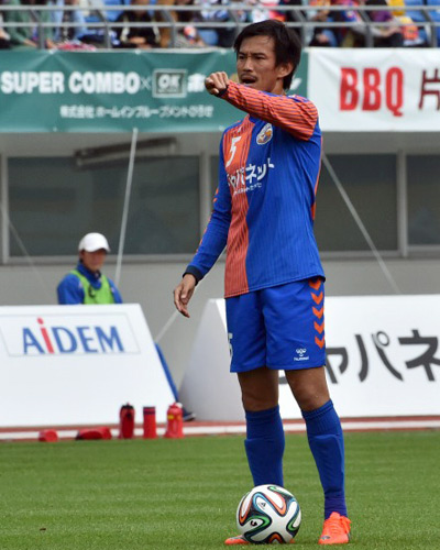 長崎・石神、FK直接ゴール - 鹿...