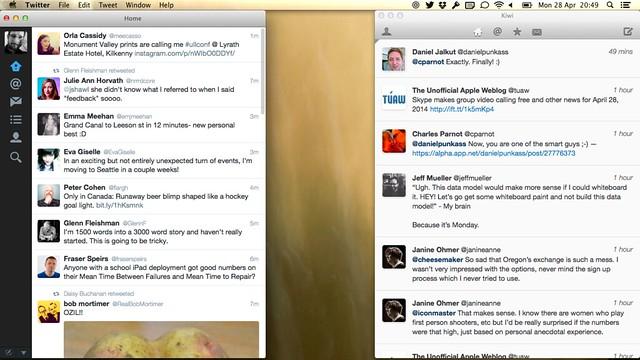 Twitter and Kiwi
