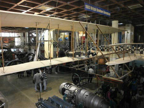 Wright-brothers-aeroplane-model-at-visvesvaraya-technological-museum