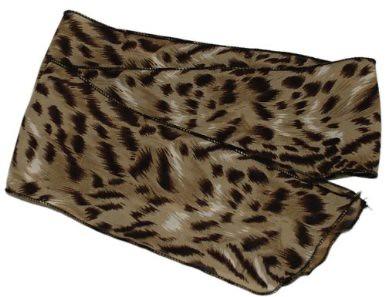 Sash Belt Hair tie Scarf Brown Georgette Animal Print