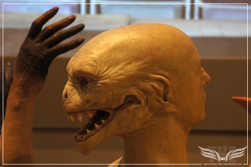 The Establishing Shot: The Making of Harry Potter Tour - Creature Shop Voldemort possessed head of Quirrell Quirinus & Dumbledore's burnt hand by Craig Grobler