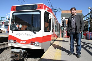 Chris Turner, author of The Leap and Geography of Hope with Calgary's wind-powered LRT - 5