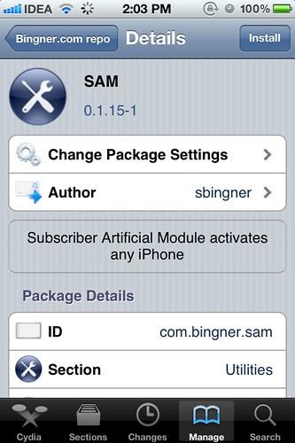 Install SAM