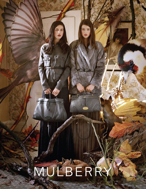 Shona Heath for Mulberry FW11 Campaign. Photo via CLM