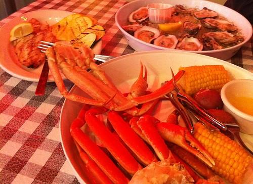 Dinner from Flying Fish, Memphis, Tenn.