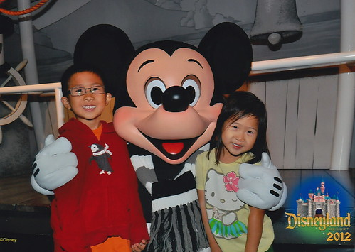 Kids with Mickey Mouse