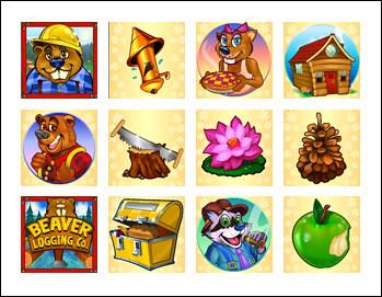 free Builder Beaver slot game symbols